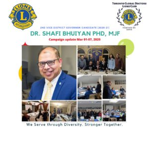 Dr. Shafi Bhuiyan MJF, Ph.D. 2nd VDG campaign update.